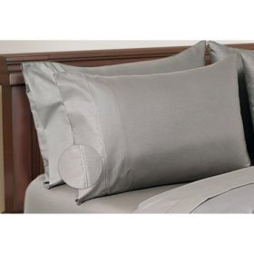 Hotel Premier Collection by Member's Mark 650 Thread-Count Egyptian Cotton Pillowcases, 2 Pack (Assorted Sizes and Colors)