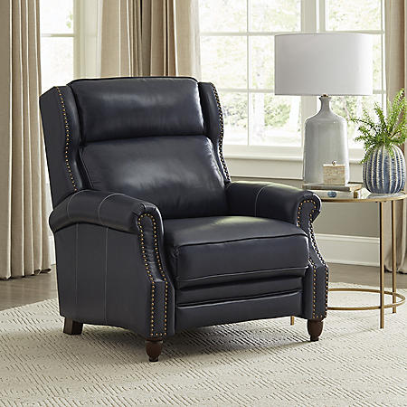 Member's Mark Macey Leather Recliner, Assorted Colors