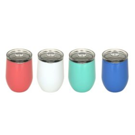 Member's Mark Insulated Wine Tumblers 4-Pack Set (Assorted Colors)