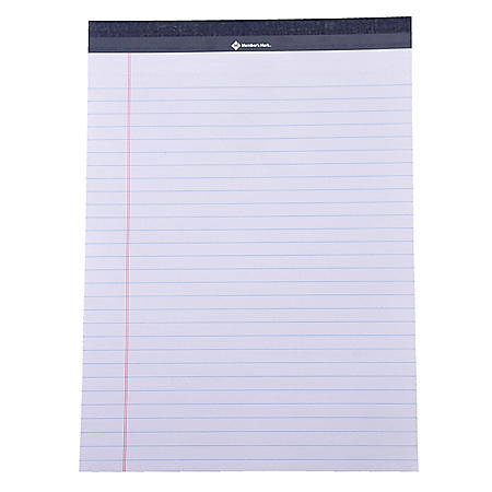 Members Mark Legal Pad - Perforated White 15-Pack