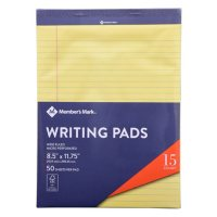 Members Mark Legal Writing Pad - Perforated Canary 15-Pack