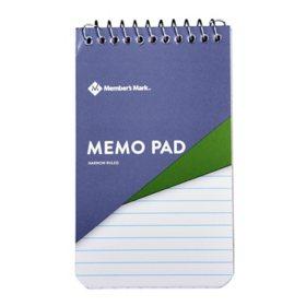 """Members Mark Memo Pad 3"""" x 5"""" 12-Pack"""