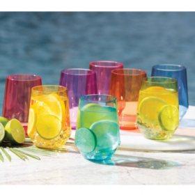 Member's Mark Tritan Stemless Wine Glasses, 8 Pack (Assorted Colors)