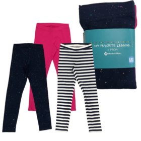 Member's Mark Girls' 3-Pack Leggings