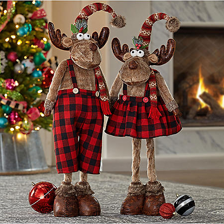 Member's Mark Plush Moose Decor (Set of 2)