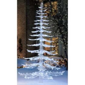 size 40 26647 148d8 Member's Mark 7 ft Cool White Crystal Iced Christmas Tree ...