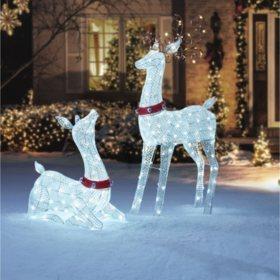 members mark set of 2 deer family