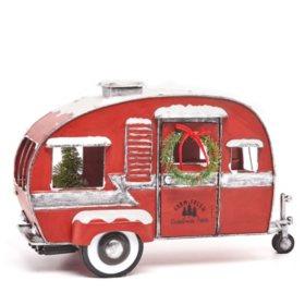 Sams West Members Mark Pre Lit Vintage Metal Truck Camper or Van Home Decor Decoration Camper