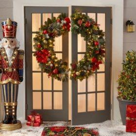 "Member's Mark 48"" Pre-lit Decorated Wreath"