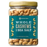 Deals on Members Mark Roasted Whole Cashews w/Sea Salt 33 oz