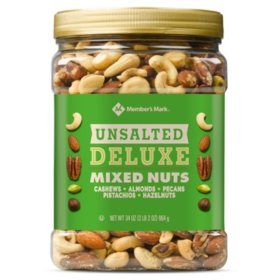 Member's Mark Unsalted Deluxe Mixed Nuts (34 oz.)