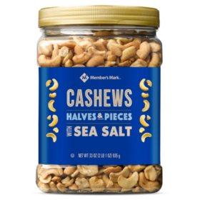 Member's Mark Cashew Halves and Pieces with Sea Salt (33oz)