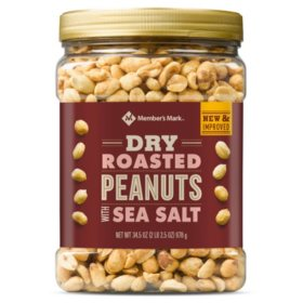Member's Mark Dry Roasted Peanuts with Sea Salt (34.5 oz.)