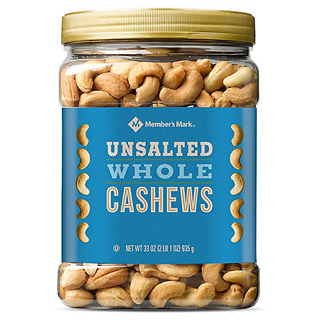 Member's Mark Unsalted Whole Cashews (33 oz.)
