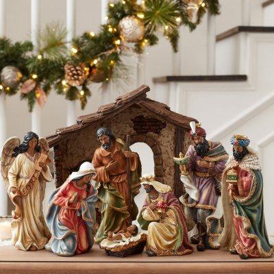 Member S Mark 9 Piece Nativity Set Sam S Club