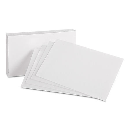 """Oxford - Index Cards, Unruled, 4 x 6"""" - 100 Cards"""