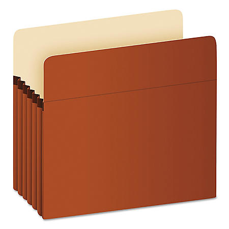 "Pendaflex 5 1/4"" Expansion File Pocket, Manila/Red Fiber (Letter)"