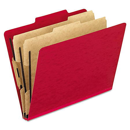 Pendaflex 2/5 Tab 6-Section Pressguard Hanging Classification Folder, Select Color (Letter, 10 ct.)