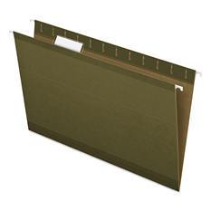 Pendaflex 1/5 Reinforced Tab Hanging File Folders, Standard Green (Legal, 25 ct.)