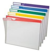 Pendaflex Clear Poly Index Folders, Assorted Colors (Letter, 10 ct.)