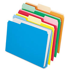 Pendaflex 1/3 Tab DoubleStuff File Folders, Assorted Colors (Letter, 50 ct.)