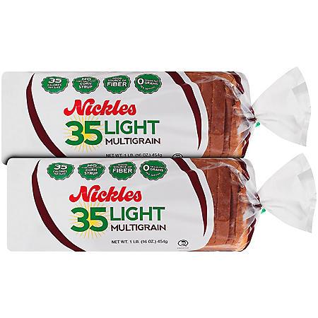 Nickles Light 35 Multigrain Bread - 16 oz. - 2 pk.