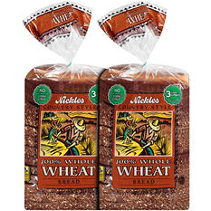 Nickles Country Style 100% Whole Wheat Bread - 24 oz. - 2 pk.