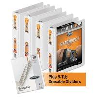 """Wilson Jones - Heavy-Duty Round-Ring View Binder Plus Pack, 1 1/2"""" Cap, White -  4/Carton"""