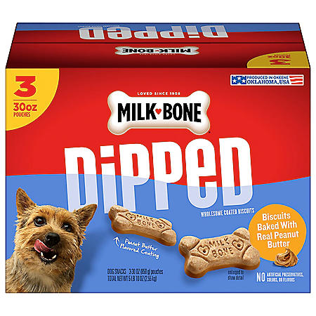 Milk-Bone Dipped Dog Biscuits, Bake with Real Peanut Butter (90 oz.)