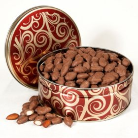 Chocolate Covered Almonds Gift Tin (30 oz.)