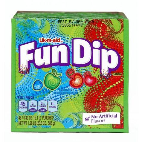 Wonka Fun Dip Candy Packs (0.6 oz. pks., 48 ct.)