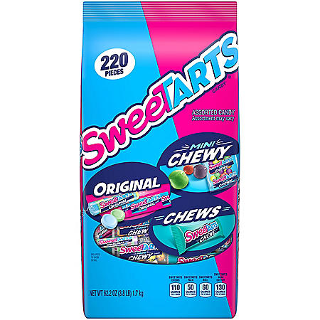 SweeTarts Original and Chewy Candy Variety Pack (220 ct.)