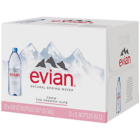 0aa473e2df Evian Natural Spring Water (1 L, 12 pk.) - Sam's Club