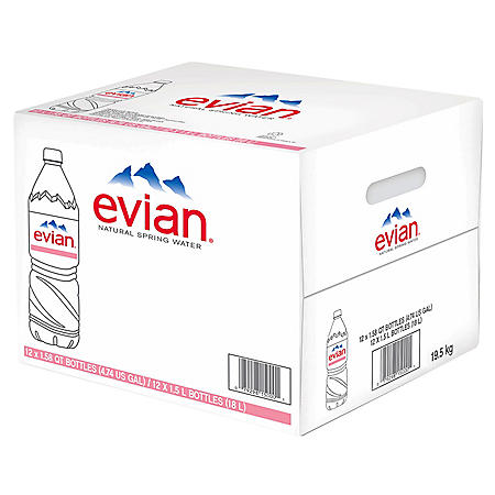 Evian Natural Spring Water (1.5L / 12pk)