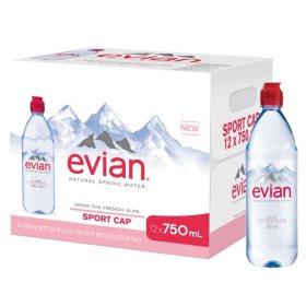 b14592a55b Evian Natural Spring Water (750 mL ea., 12 pk.) - Sam's Club