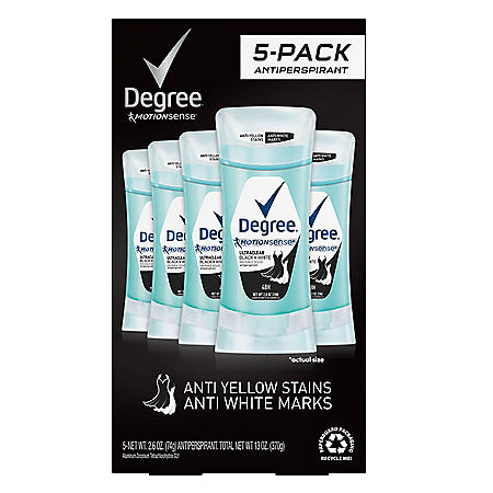 Degree for Women UltraClear Black + White Antiperspirant (2.6 oz, 5 ct.)