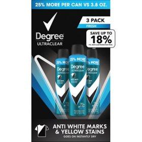 Degree for Men Antiperspirant Deodorant Dry Spray Black + White (4.8 oz., 3 pk.)