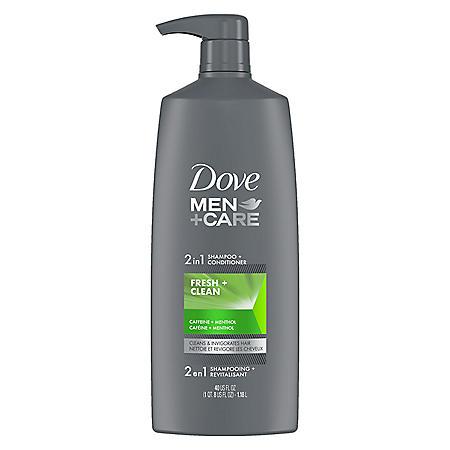 Dove Men + Care 2-in-1 Shampoo + Conditioner, Fresh & Clean (40 fl. oz.)