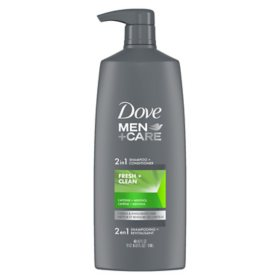 Dove Men + Care 2-in-1 Shampoo + Conditioner, Fresh & Clean (40 fl. oz.)
