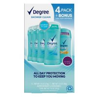 Degree Shower Clean Deodorant (2.6 oz., 4 pk. + 1.6 oz.)