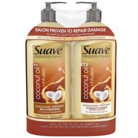 Suave Professionals Damage Repair Shampoo & Conditioner (40 fl. oz., 2 pk.)