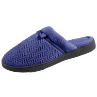 Isotoner Women's Chevron Microterry Clog Slippers