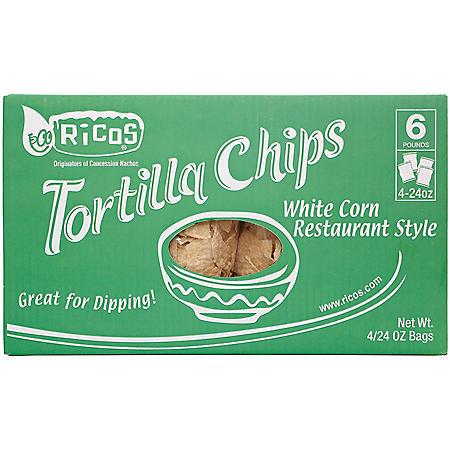 Rico's White Restaurant Style Chips (24 oz., 4 ct.)