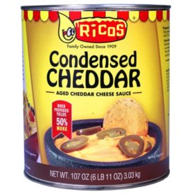 Ricos Condensed Cheddar Cheese Sauce (107 oz.)