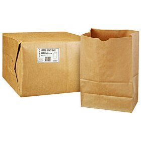 Duro Member's Mark Bag 1/6 BBL Kraft Bag -  500 ct.