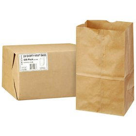 Duro Member's Mark Bag 20# Shorty Kraft Bags - 500 ct.