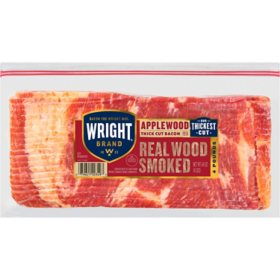 Wright Brand Applewood Smoked Thick Cut Bacon (4 lbs.)