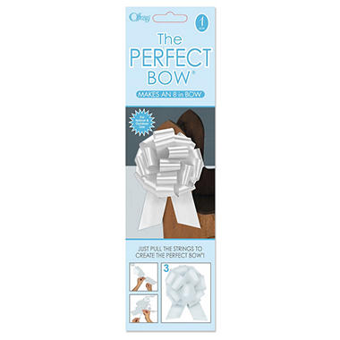 Perfect White Bows - 6 pk.