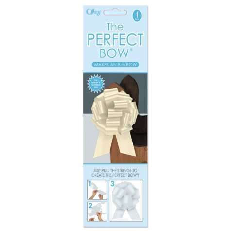 Perfect Ivory Bows - 6 pk.