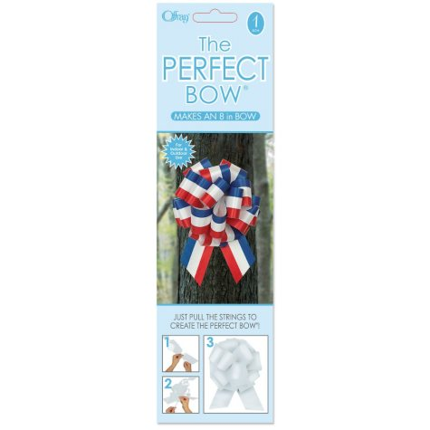 Perfect Red, White & Blue Bows - 6 pk.